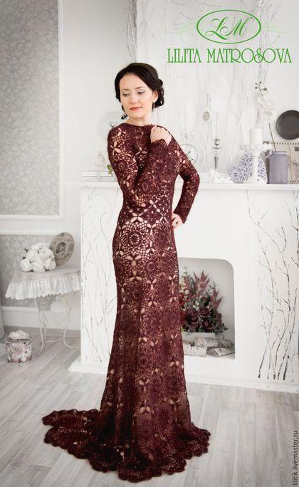 suknia szydełkiem