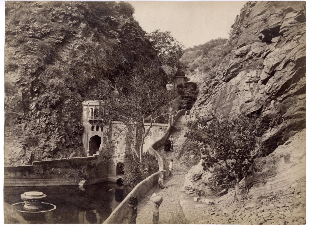 Mountain Track and a Small Dam - India c1880's