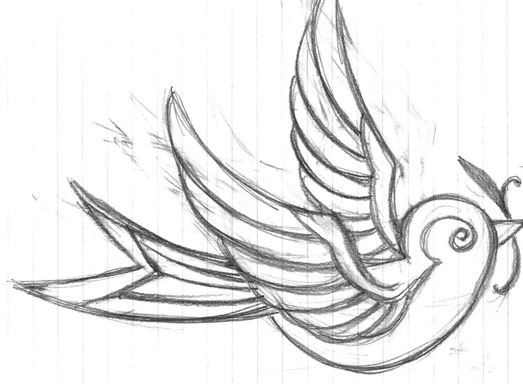 Birds Tattoos For You: Sparrow Tattoo Flash