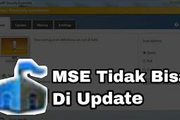MSE atau Microsoft Security Essentials Tidak Bisa di Update di Windows 7