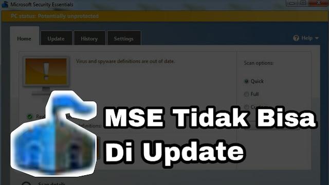 Microsoft Security Essentials tidak bisa di update