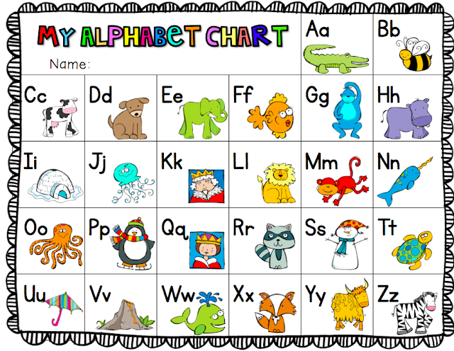 Ship Shape First Grade Alphabet Chart Freebie