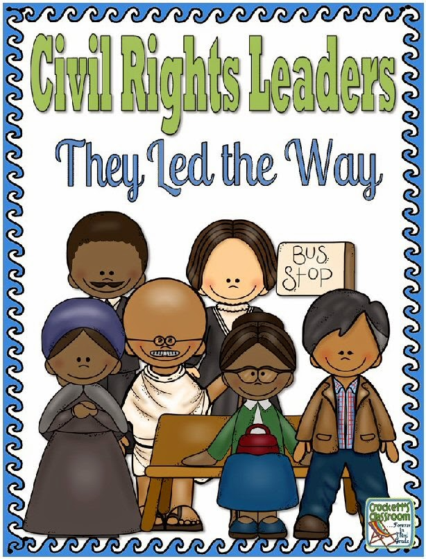 Civil Rights Leaders, pocket folder or interactive notebook components ---Crockett's Classroom