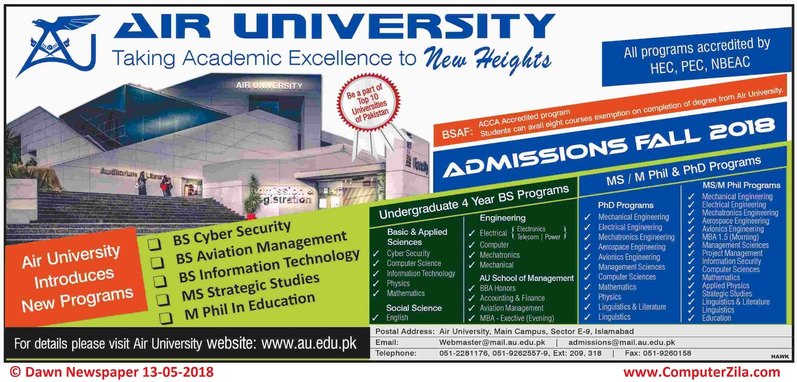 Air University Admissions Fall 2018