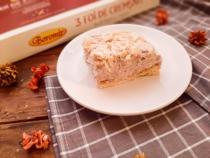 Prăjitură cu spumă de gem de căpșuni