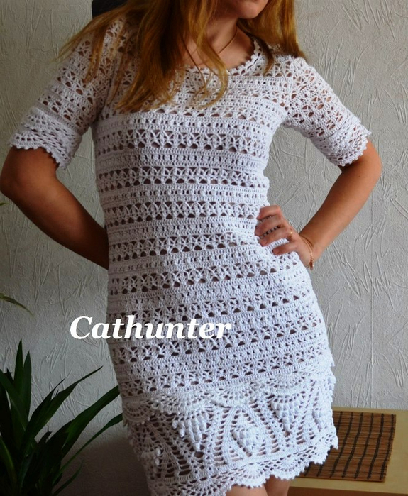 51688a71a Vestidos em Crochê - Katia Ribeiro Crochê Moda e Decoração