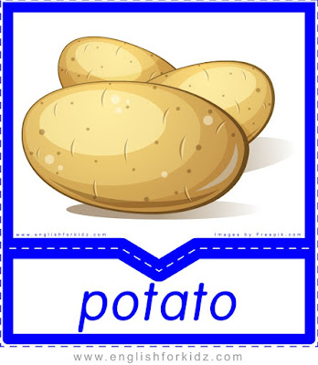 Potato - English flashcards for the fruits, vegetables and berries topic