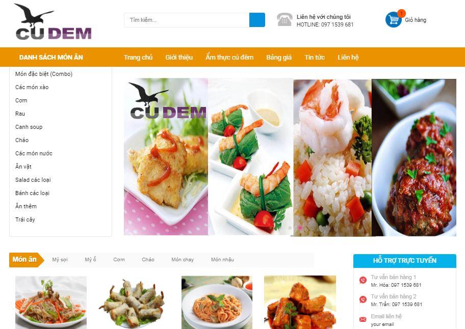 [Share] - Theme bán hàng Food