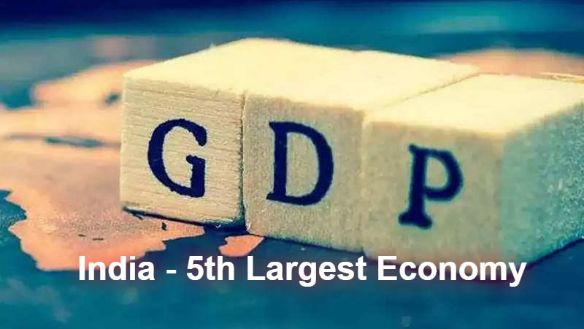 India becomes the 5th largest economy country in the world