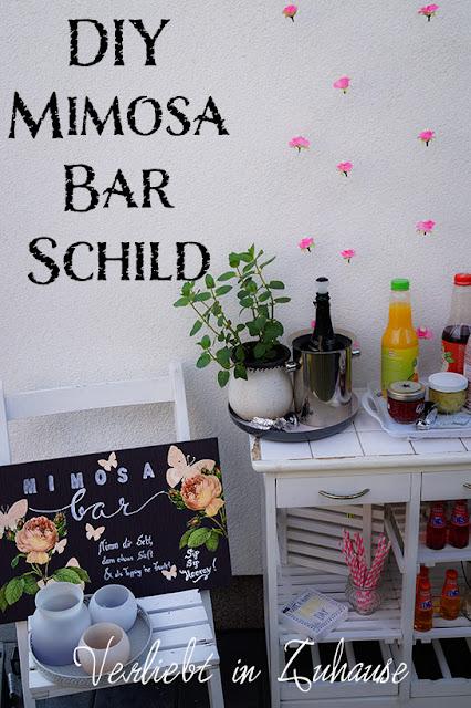 DIY: Mimosa-Bar-Schild von Verliebt in Zuhause selbermachen