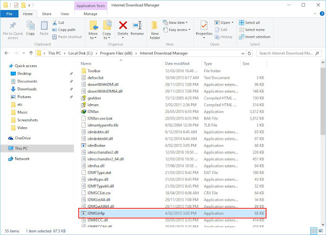 Ganti nama file IDMhelp