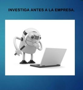 Entrevista de trabajo, investiga primero a la empresa