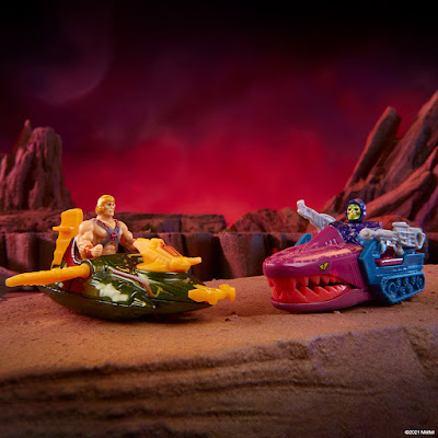 San Diego Comic-Con 2021 Exclusive Masters of the Universe Wind Raider vs Land Shark Set by Hot Wheels x Mattel