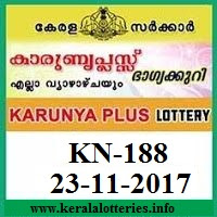 Karunya Plus KN-188 lottery result on 23.november, 2017