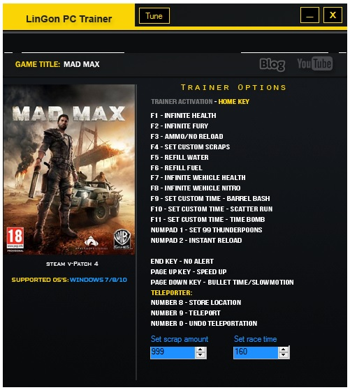 Mad Max - PC G@me Trainers Download - Black View Trainers
