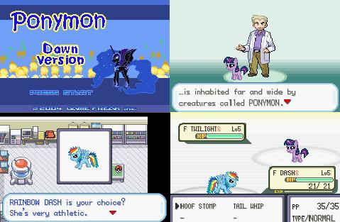 Ponymon Dawn GBA ROM Hack Download