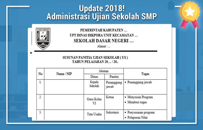 Administrasi Ujian Sekolah SMP