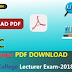 Download Question Paper Of Govt. Inter College Lecturer Exam-2018 PDF