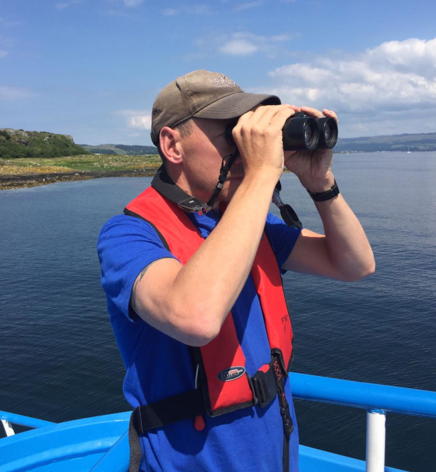 Surveying cetaceans off the Isle of Cumbrae, July '19