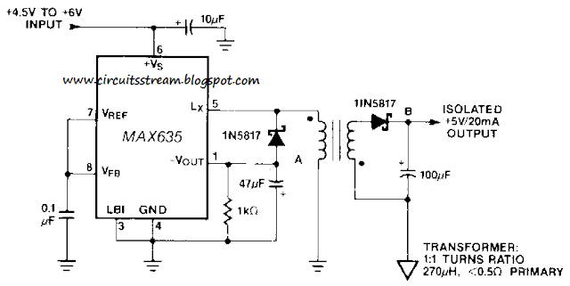 Simple Isolated Converter Circuit Diagram