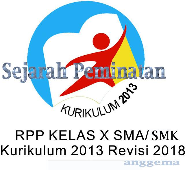 RPP Kurikulum 2013 Sejarah Peminatan  Kelas XII  SMA/SMK Revisi 2018