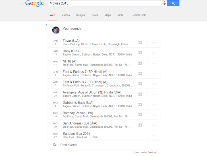 How Google Tracking My Movie and Event Activities