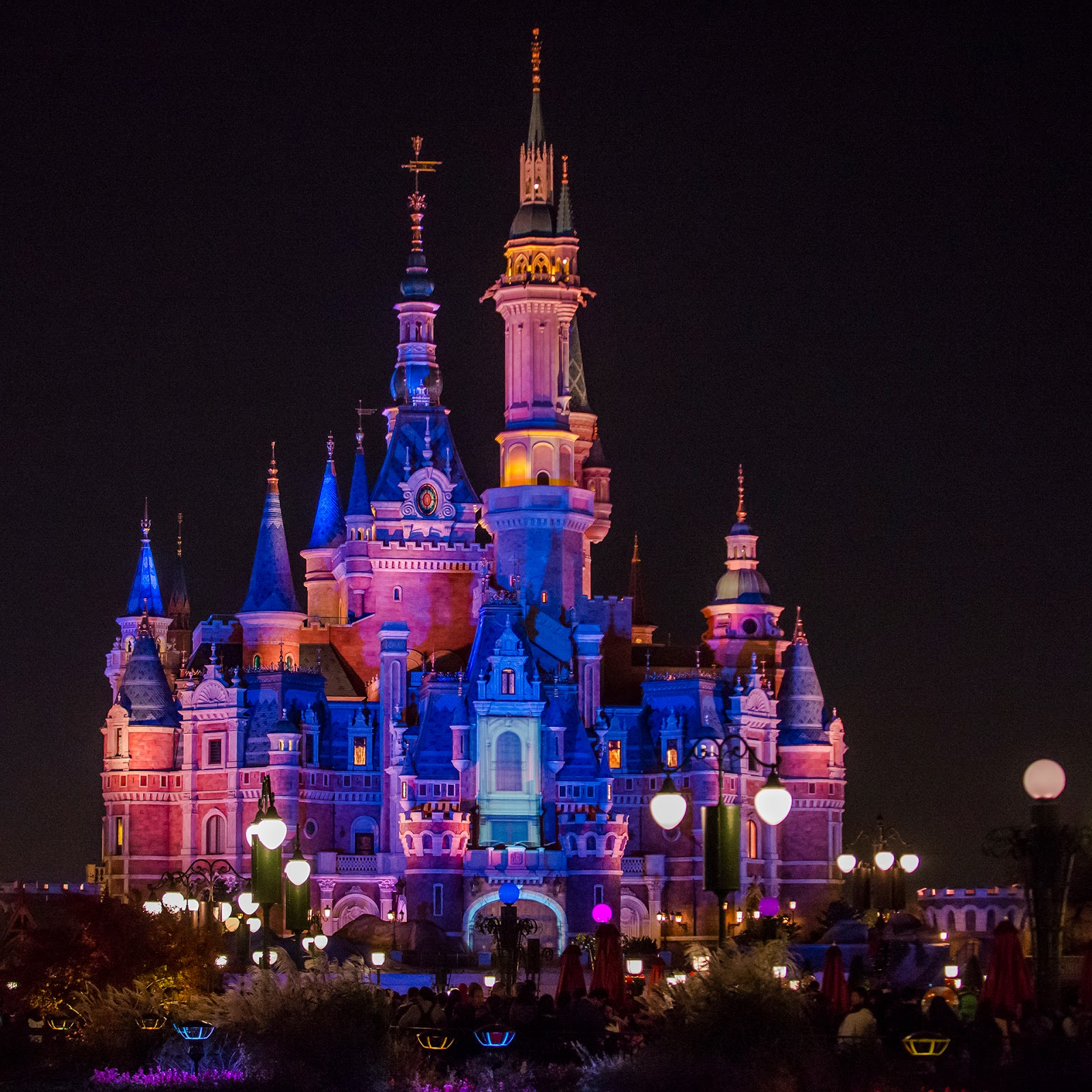 The Enchanted Castle At Night
