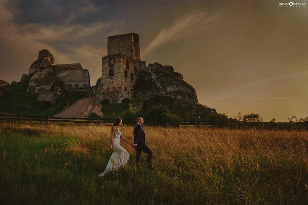 Olsztyn zamek zdjęcia ślubne Tomasz Konopka