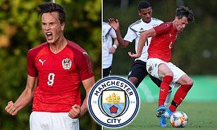 Manchester City 'keeping close tabs on Red Bull Salzburg's wonderkid Luka Reischl'