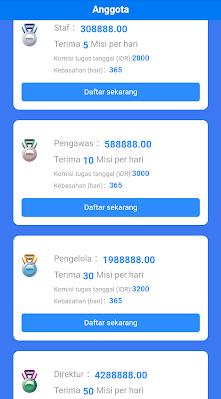Keuntungan mendaftar aplikasi goins