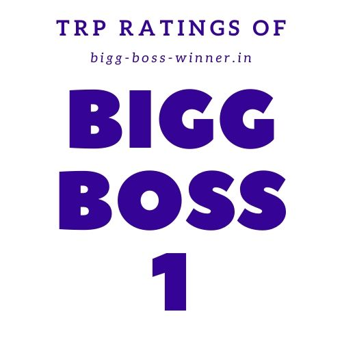 Bigg Boss 1 TRP Ratings