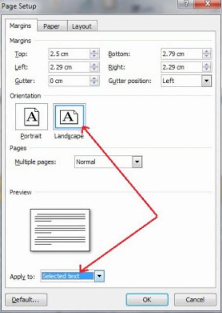 Cara Membuat Landscape pada Halaman Tertentu Saja di Microsoft Word