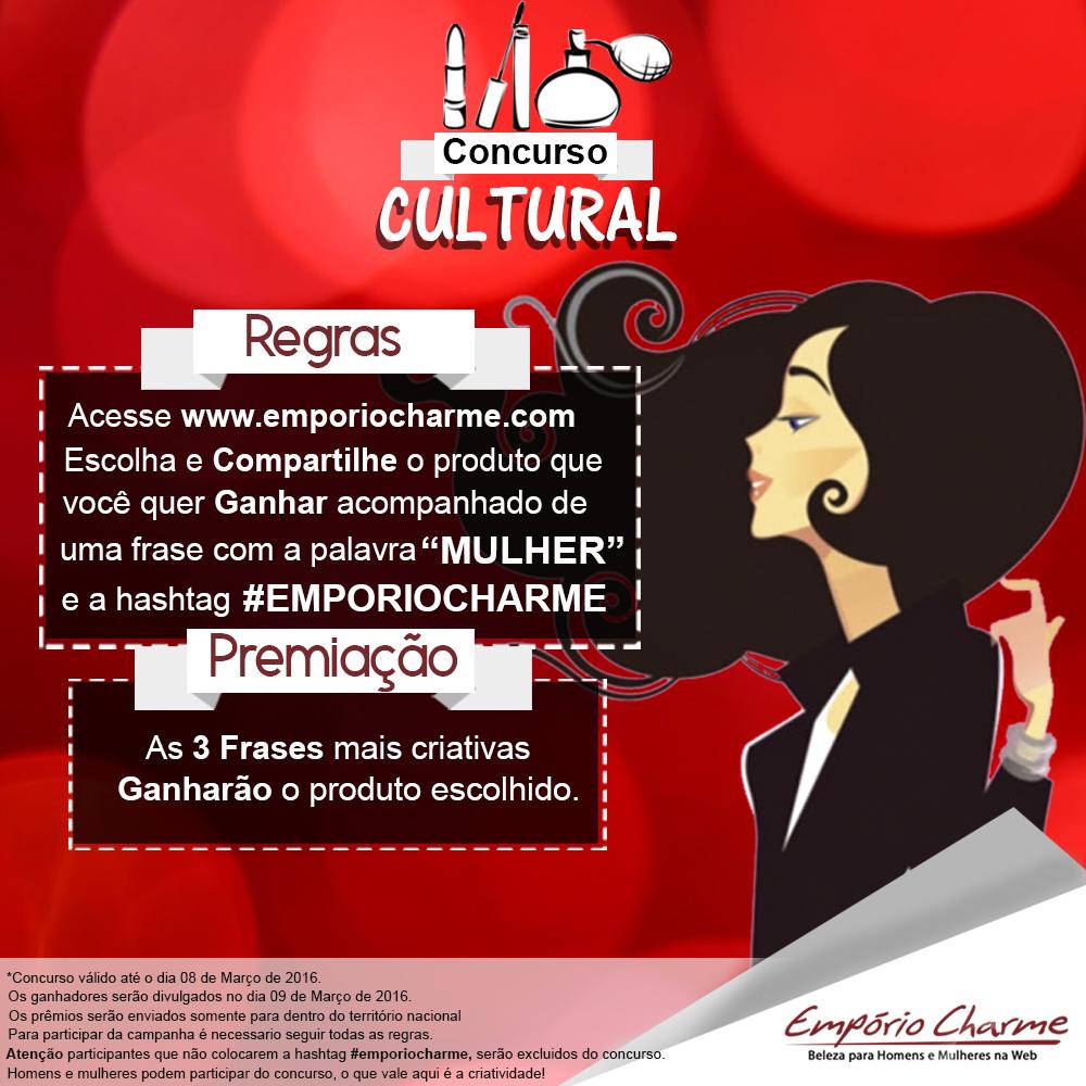 Concurso Cultural Dia Internacional da Mulher na Empório Charme