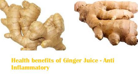 Health benefits of Ginger Juice - Anti Inflammatory