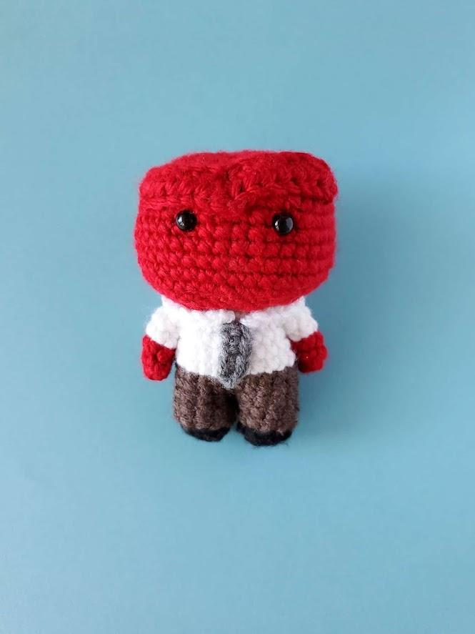Pixar Inside Out - Anger Amigurumi Doll FREE Crochet Pattern