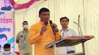 आयुष मंत्री श्री कावरे ने कोसमी में 70 आवासहीनो को दिया आवासीय भूमि का पट्टा