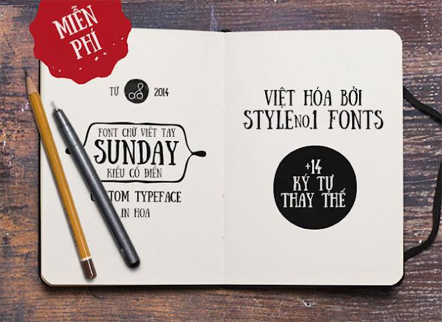 Font SVN Sunday Việt Hóa