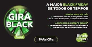Cadastrar Promoção Consul Gira Black Prêmios de Até 500 Reais e Compra Grátis