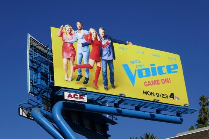 Voice season 17 extension billboard
