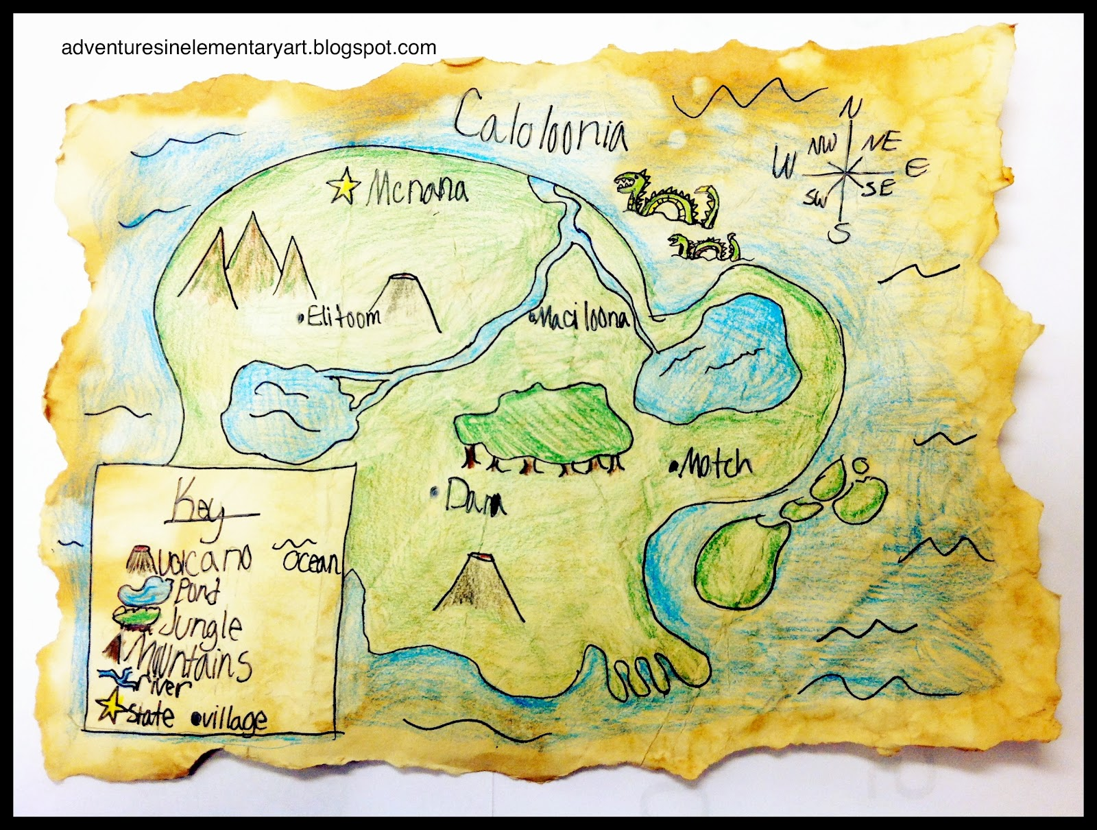 Adventures In Elementary Art Mythical Maps