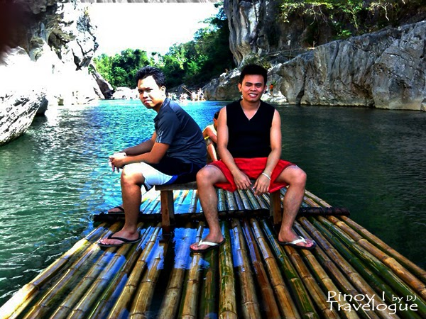 Bamboo raft ride at Minalungao