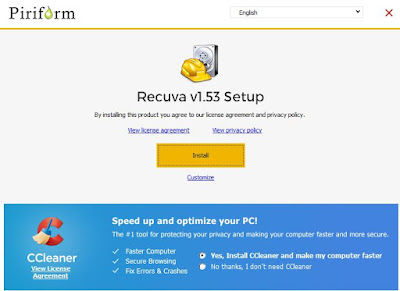 Recuva free software