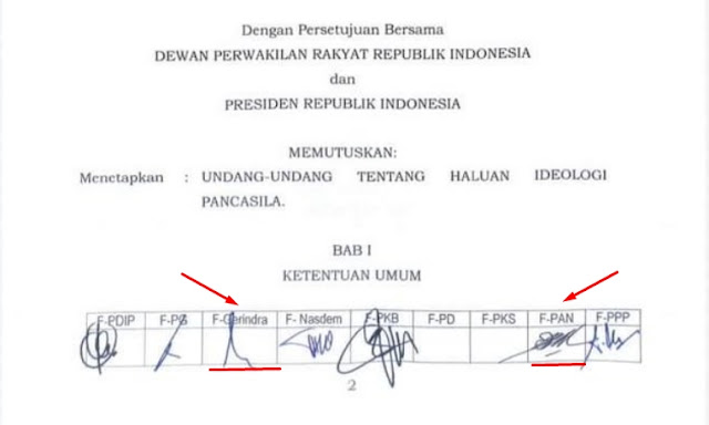 Fraksi PAN dan Gerindra ikut Tandatangani RUU HIP
