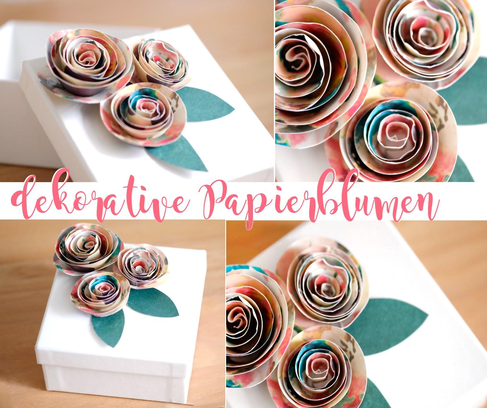 Blumen Aus Papier Basteln alessas diy blumen aus papier basteln