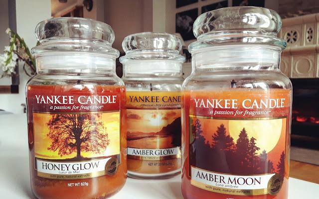 Świece w kolorze bursztynu - Amber Glow / Honey Glow / Amber Moon Yankee Candle - Czytaj więcej »