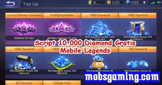 Script Diamond Gratis Mobile Legends Patch Terbaru 2020
