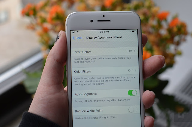 iphone 8 and iPhone 8 plus : How to access Auto-Brightness