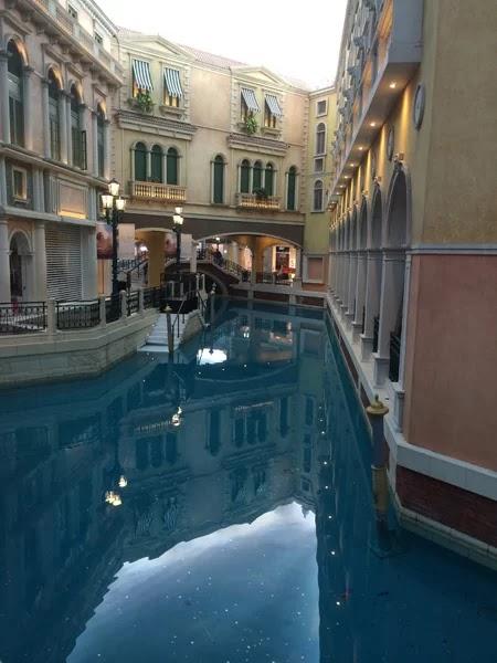 The Venice River inside a hotel in Macau