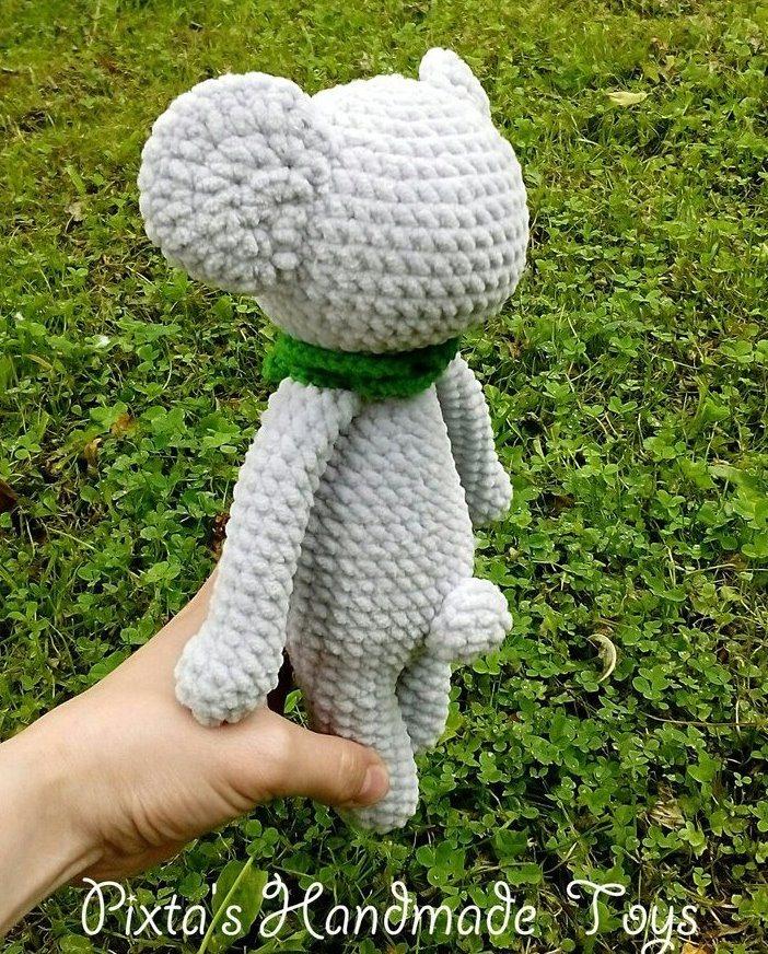 Коала схема вязания игрушки крючком