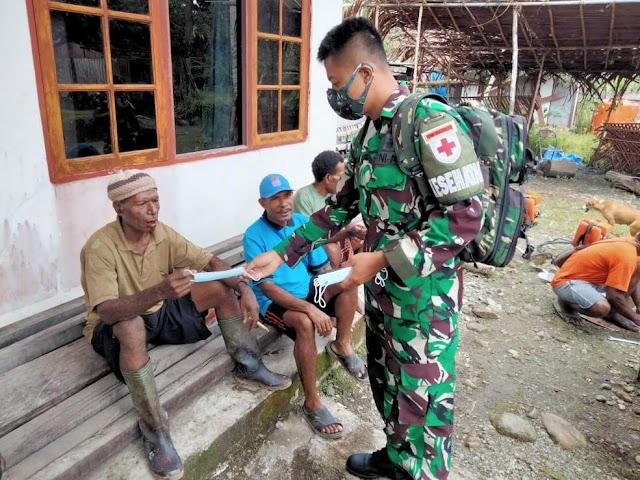 TNI Sosialisasikan Disiplin Prokes Covid-19 Kepada Masyarakat Perbatasan